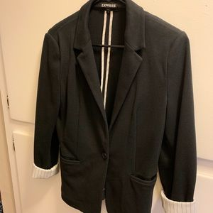 Black Express blazer- hardly worn great condition